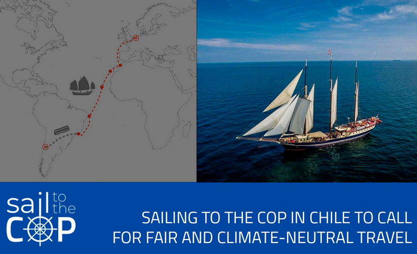Sail to the COP: how to travel in a sustainable way