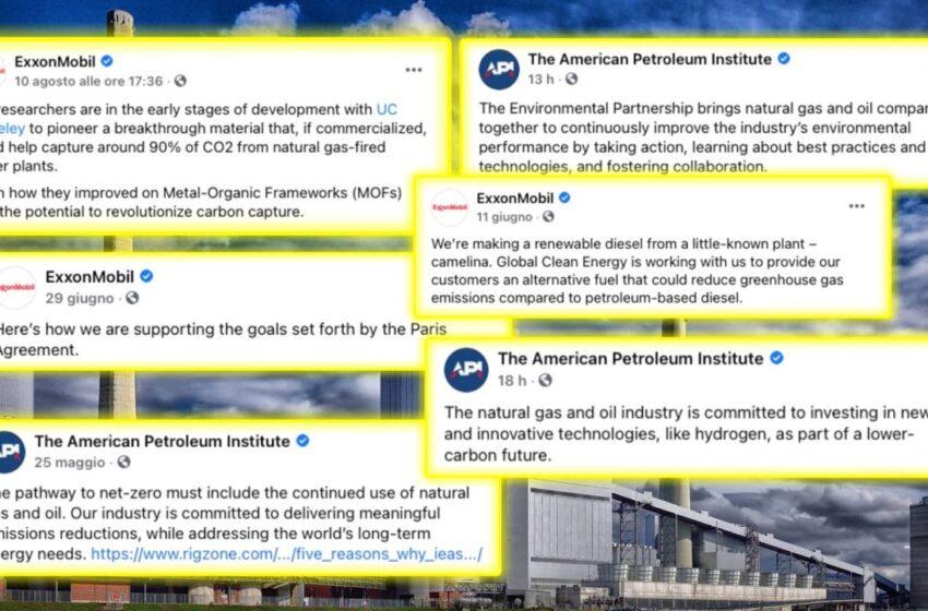 Energy Addicts: Oil Companies Greenwashing on Social Medias